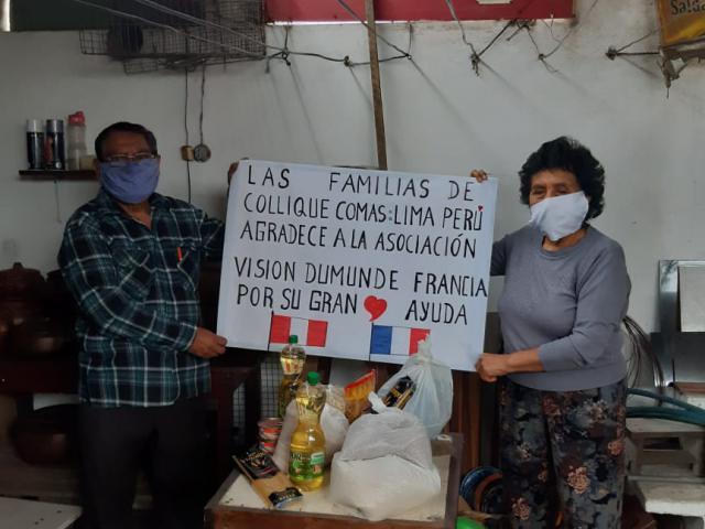 Aide alimentaire pour les familles du bidonville de Colliqué à Lima - covid-19 - photo 2 - Vision du Monde