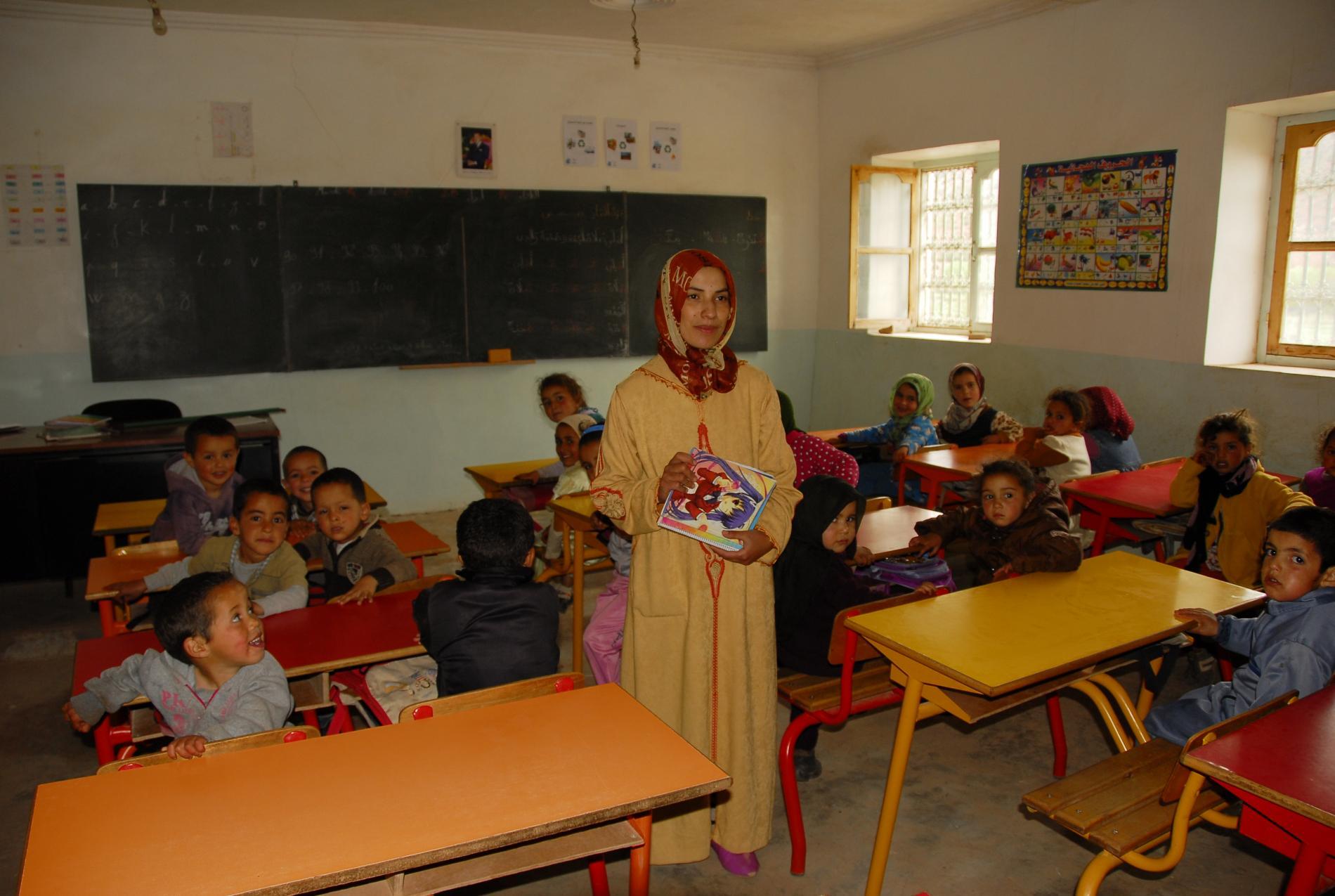 Poursuite du soutien à l'institutrice de l'école maternelle du douar d'Ibakaliwane - Vision du Monde