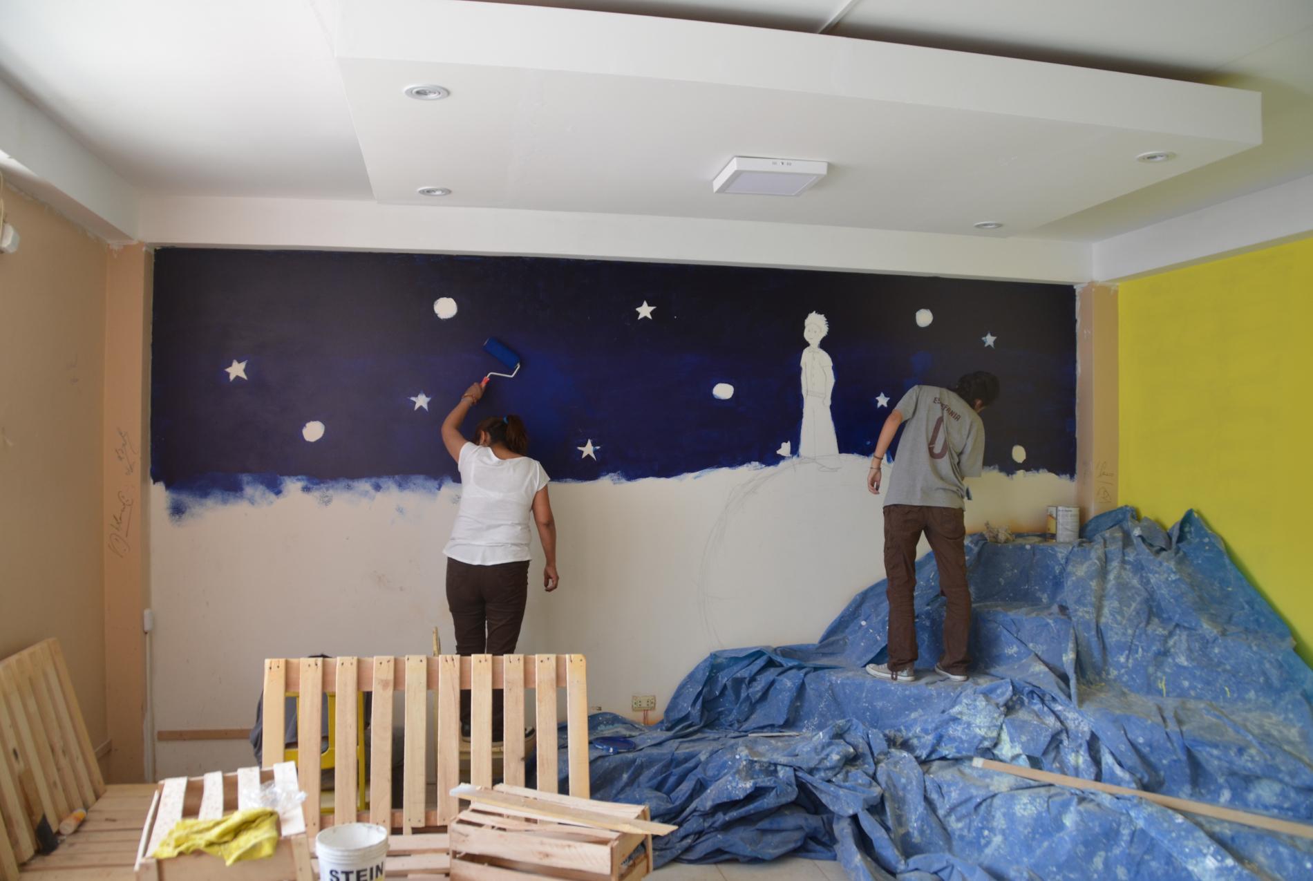 Aménagement de la Bibliothèque du Petit Prince, dans le quartier jeune de Cayma à Arequipa - Vision du Monde