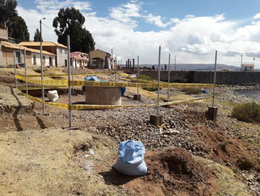 Action solidaire par Vision du Monde : Adduction d'eau au collège Miguel Grau sur l'ïle d'Amantani, Lac Titicaca, Pérou