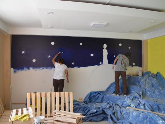 Action solidaire par Vision du Monde : Aménagement de la Bibliothèque du Petit Prince, dans le quartier jeune de Cayma à Arequipa
